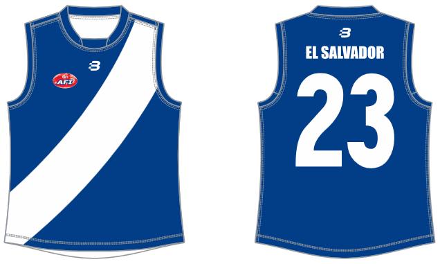 El Salvador footy jumper AFL