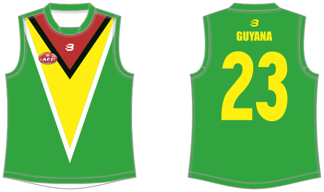 Guyana footy jumper AFL