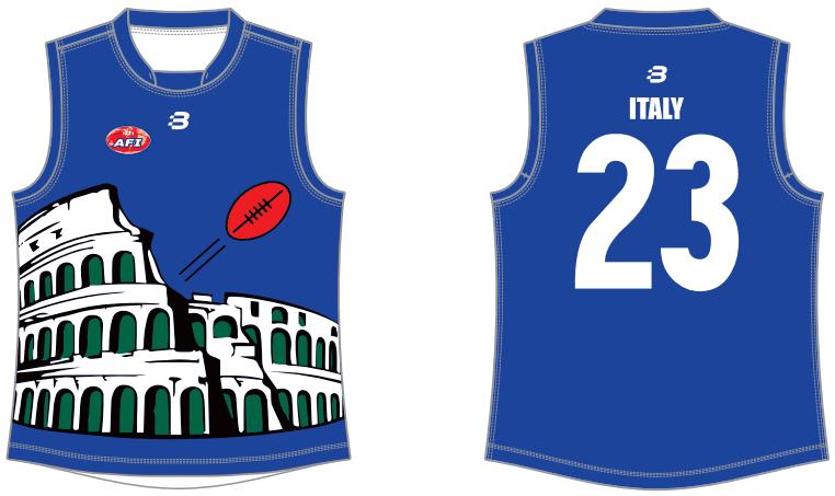 Italy World 9s footy jumper