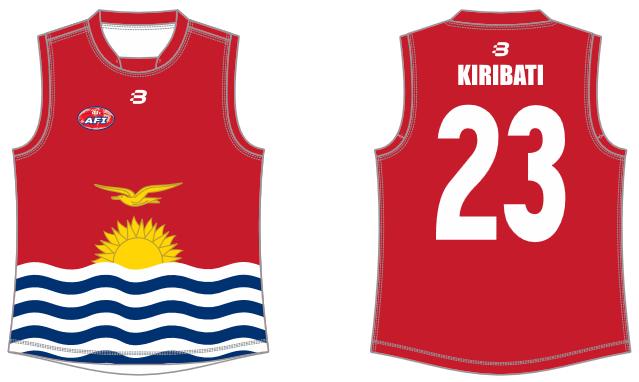 Kiribati footy jumper AFL