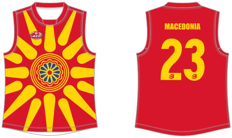 Macedonia footy jumper AFL
