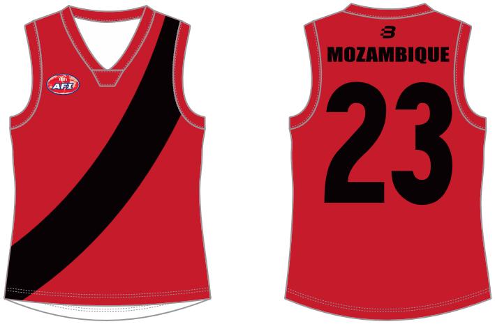 Mozambique footy jumper AFL