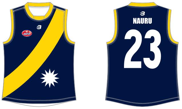 Nauru footy jumper AFL