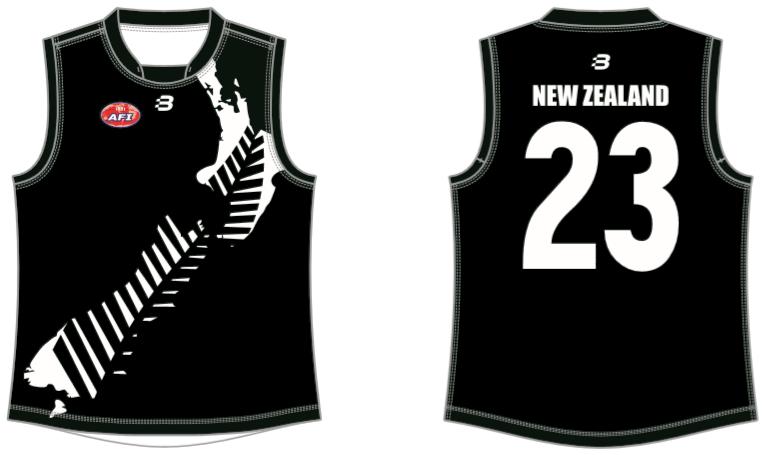 New Zealand AFL footy jumper
