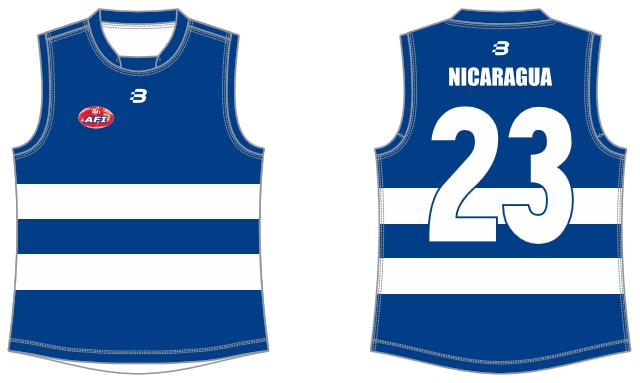 Nicaragua footy jumper AFL