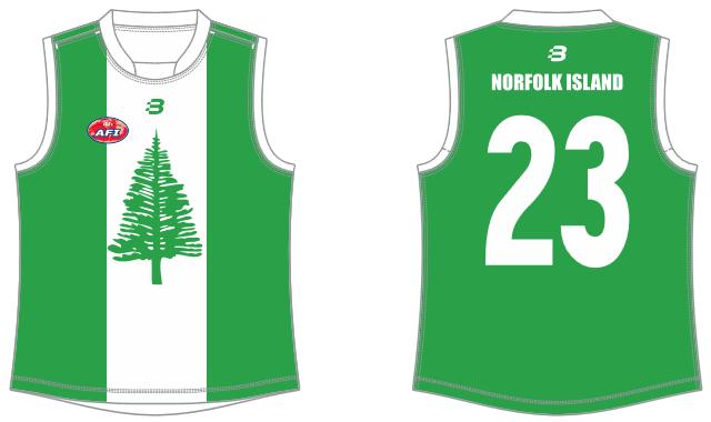 Norfolk Island footy jumper AFL