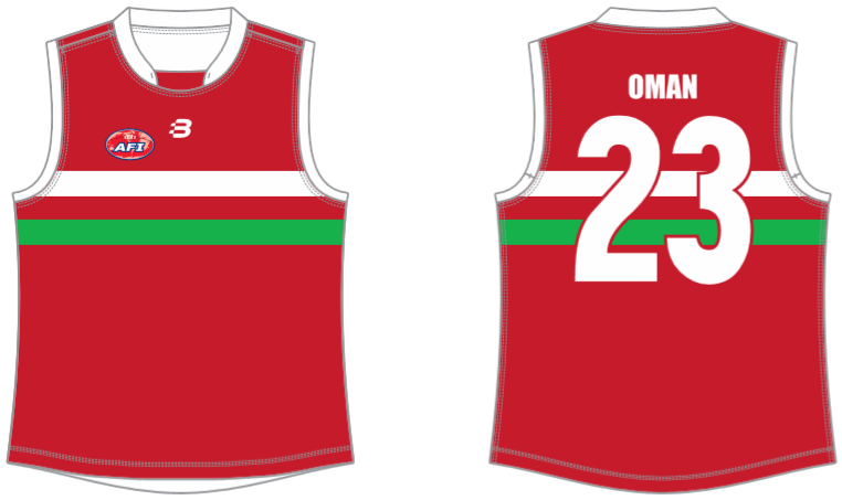 Oman footy jumper AFL