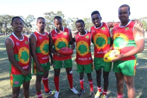 Oromia footy players AFL
