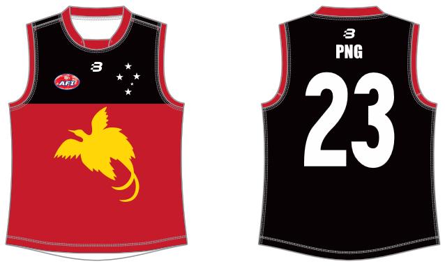 Papua New Guinea footy jumper AFL