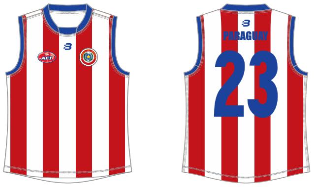 Paraguay footy jumper AFL