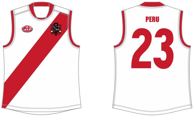 Peru footy jumper AFL