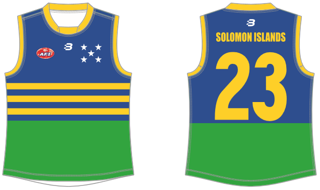Solomon Islands footy jumper AFL