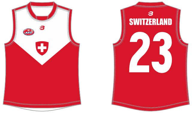 Switzerland AFL footy jumper