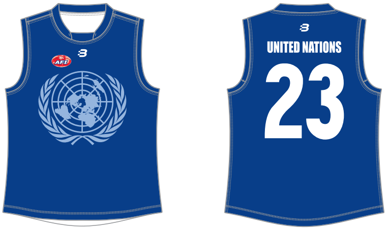 United Nations AFL footy jumper