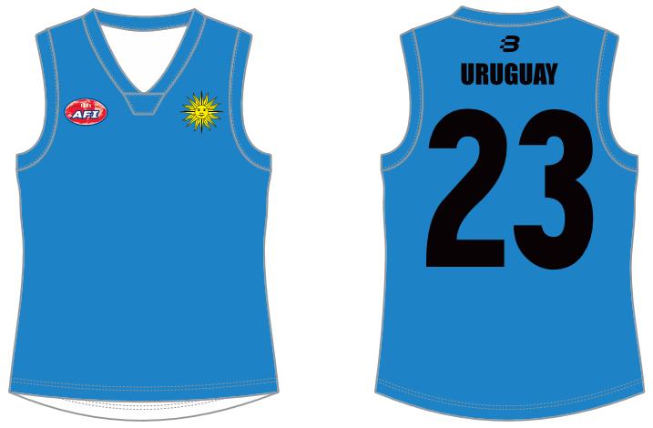 Uruguay footy jumper AFL
