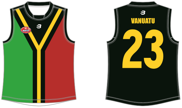 Vanuatu footy jumper AFL