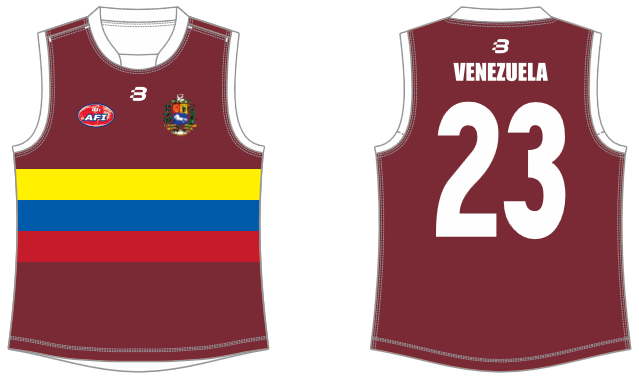 Venezuela footy jumper AFL