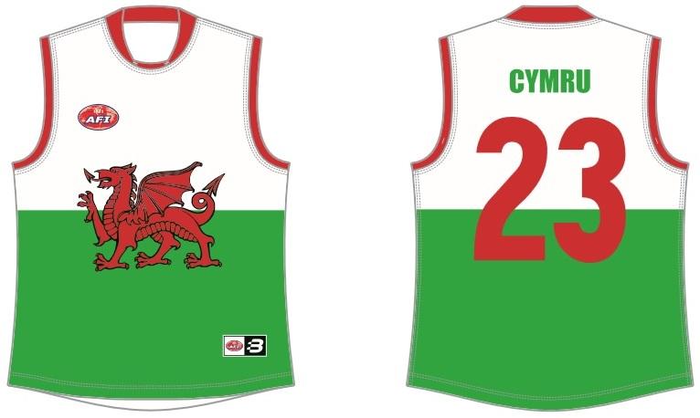 Wales AFL footy jumper